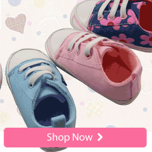 Hard Sole Canvas Baby & Toddler Girl Shoes